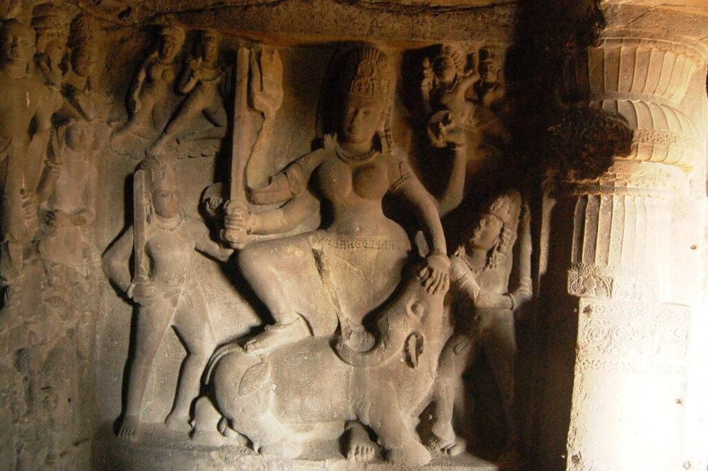 ellora-mahishasur-mardini-rameshwar-cave