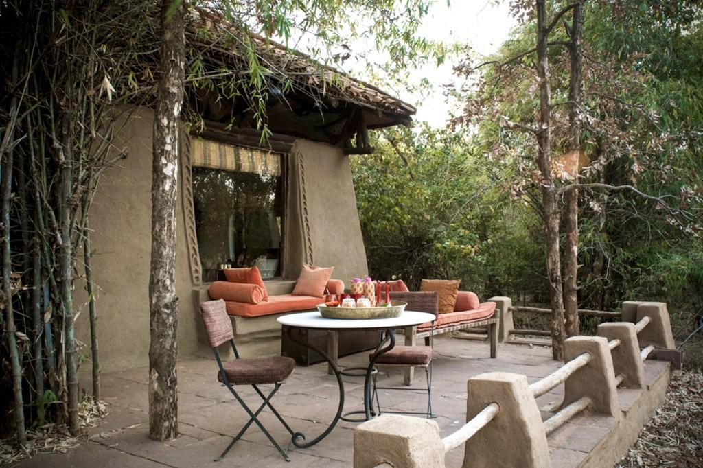 Outdoor Courtyard at Mahua Kothi